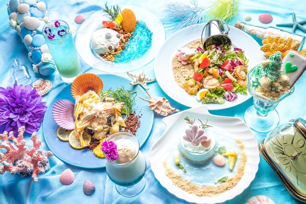 """≪『アリスのファンタジーレストラン』が神秘的な""""マーメイドブルー""""に染まる!≫「涙の海でコーカス・レース ALICE in Mermaid Party」開催!"""