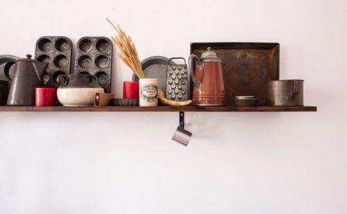 キッチンの棚の画像