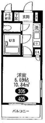ki/101 目黒ハウスの間取り図