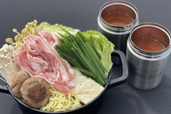 【要予約】茶美豚の甘辛キムチ鍋〆は中華めん