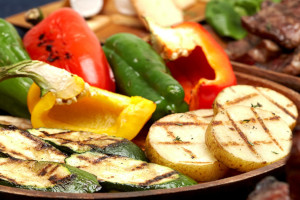 BBQグリル野菜(エリンギ、ズッキーニ各1、パプリカ2切れ)