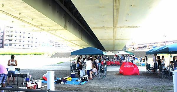 多摩川丸子橋河川敷 (BBQデリバリーサービス)