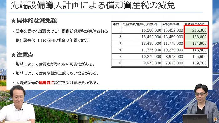 太陽光発電の節税