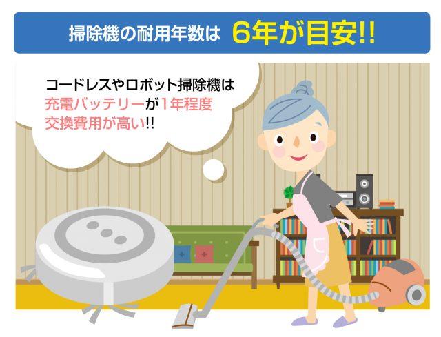 掃除機の耐用年数