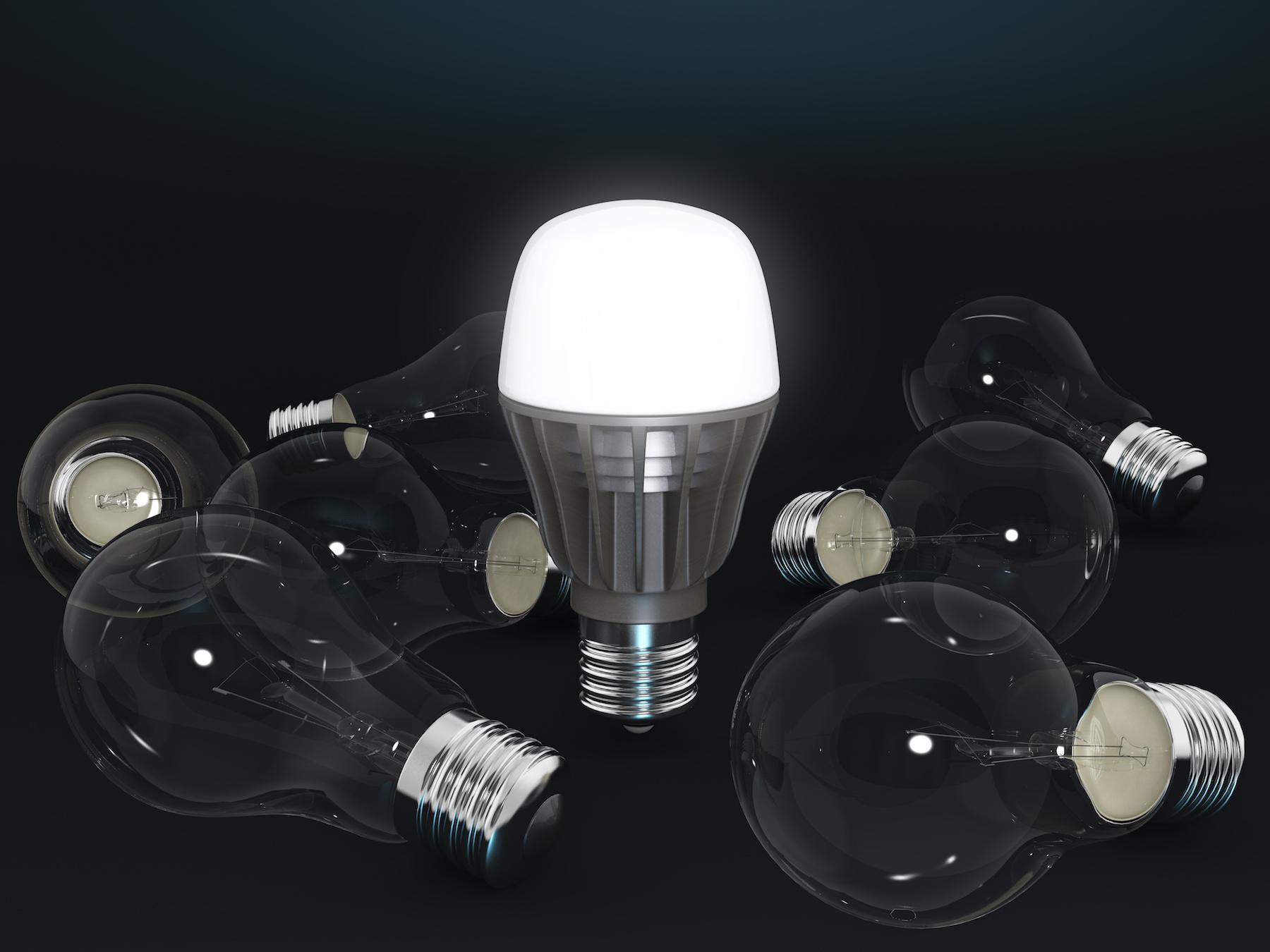 LED照明付きリビング