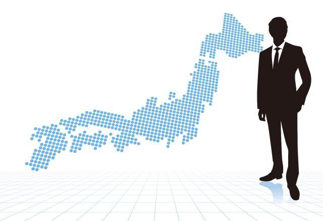 ビジネスマンと日本地図