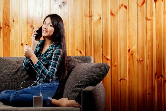 iphone通話女性