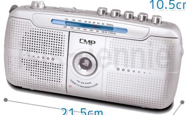 AMFMラジオカセットレコーダー