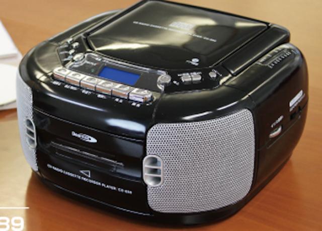 クマザキエイムCDラジオカセットレコーダー