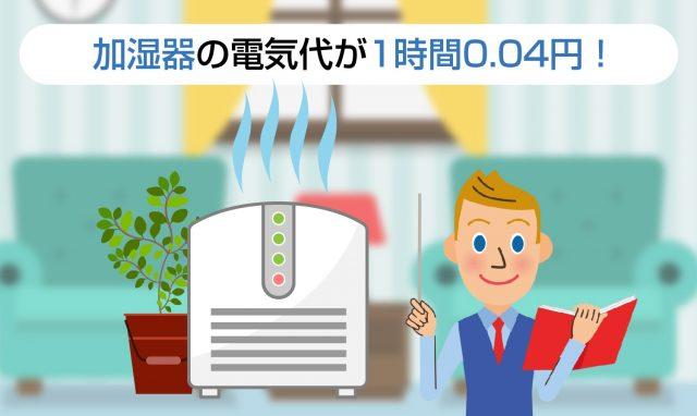加湿器電気代