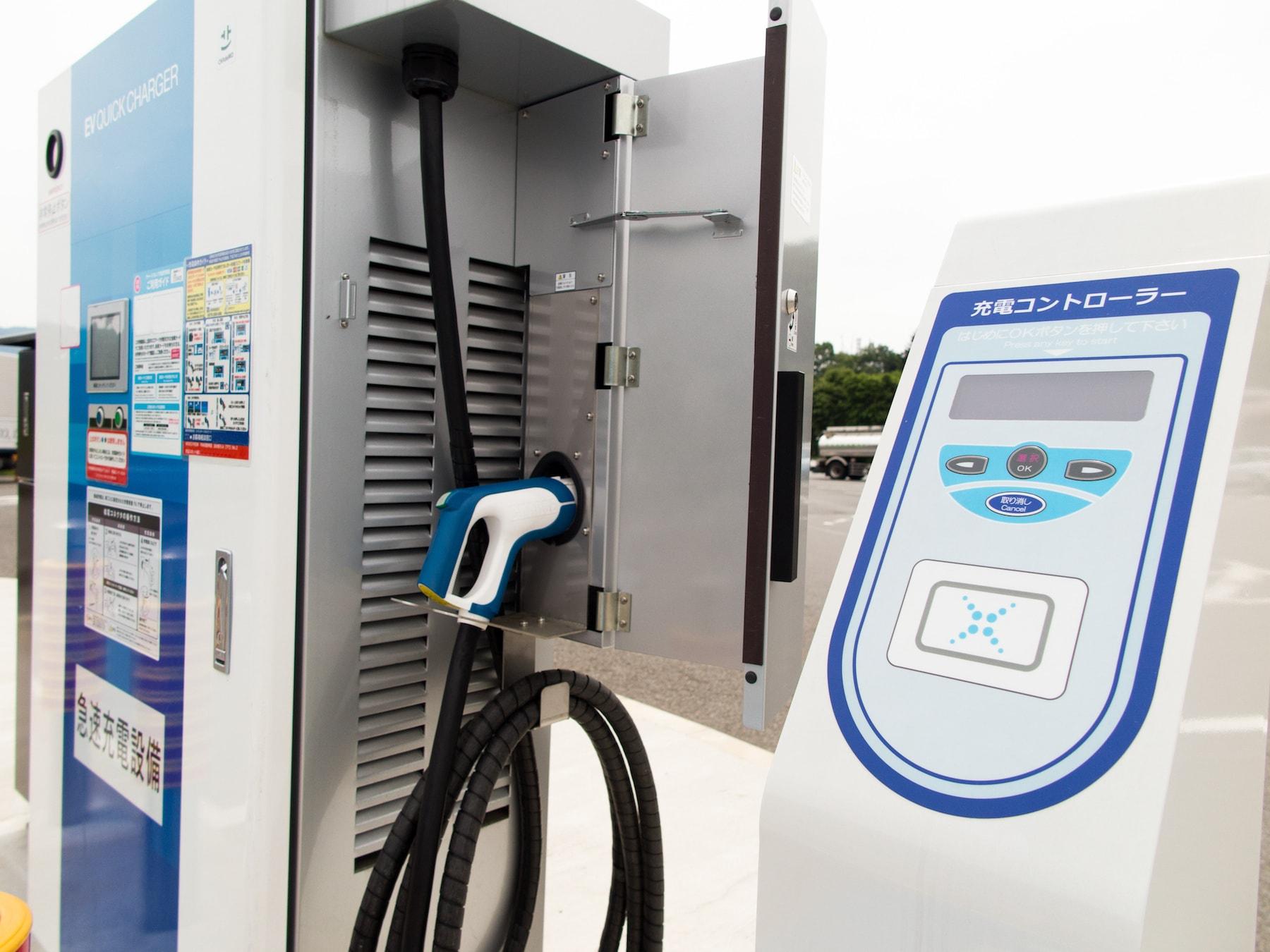 電気自動車の充電スタンド