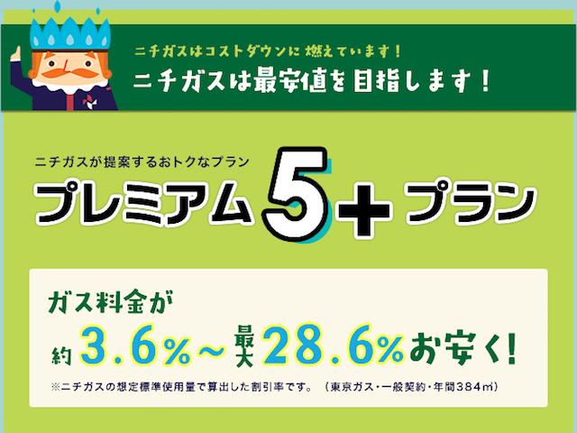 ニチガス『プレミアム5+プラン』