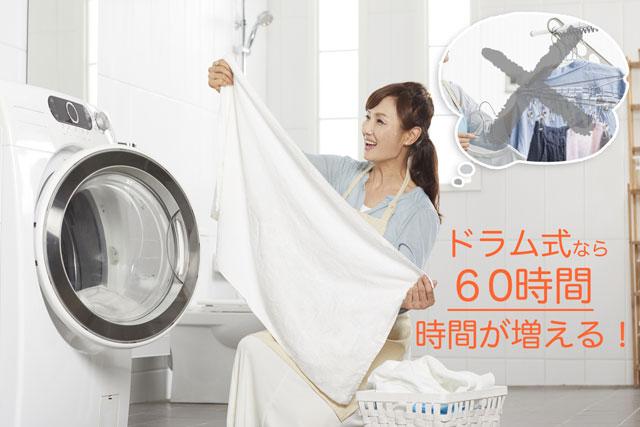 ドラム式? 縦型洗濯機? 時短家事のコツ