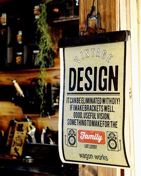 Speakerデザインをポスターにした使用例