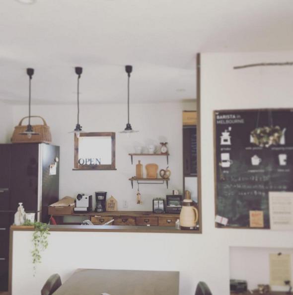 キッチンで活躍するチョークボードペイント