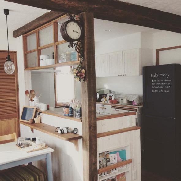 冷蔵庫の扉を黒板にする王道リメイク