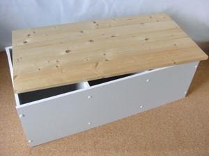 カラーボックスで作った収納ができるベンチ