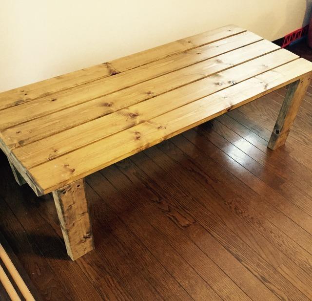 スノコで作った木製ベンチ