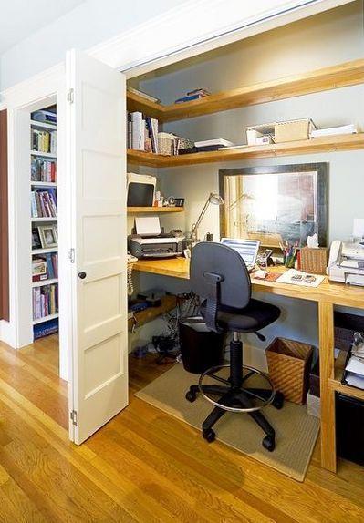 クローゼットを書斎として活用