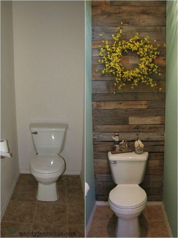 壁紙を変えてリメイクしたトイレ