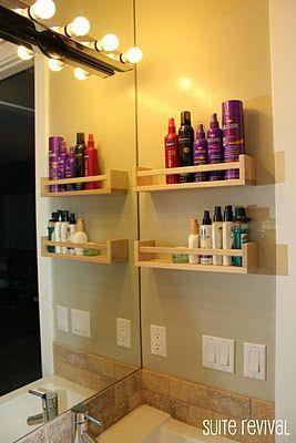 洗面台に作る壁面収納