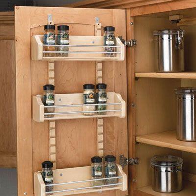 キッチン扉の裏を活用するスパイスラック収納術