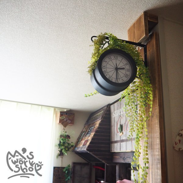 オール100均素材で作った壁掛け両面時計♪