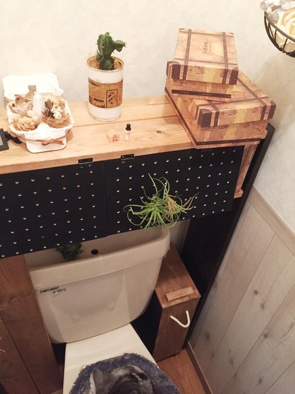 有孔ボードを活用したタンクレストイレ