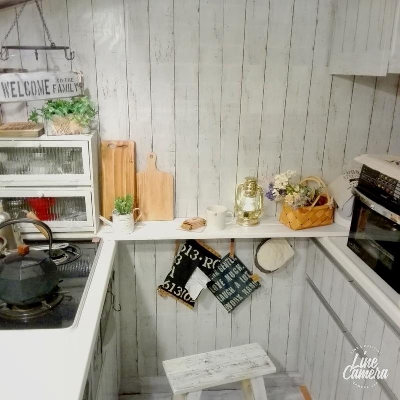 キッチンにミニカフェコーナー簡単DIY