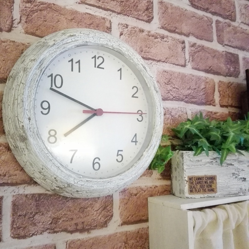 IKEA時計☆クラッキングメディウムで