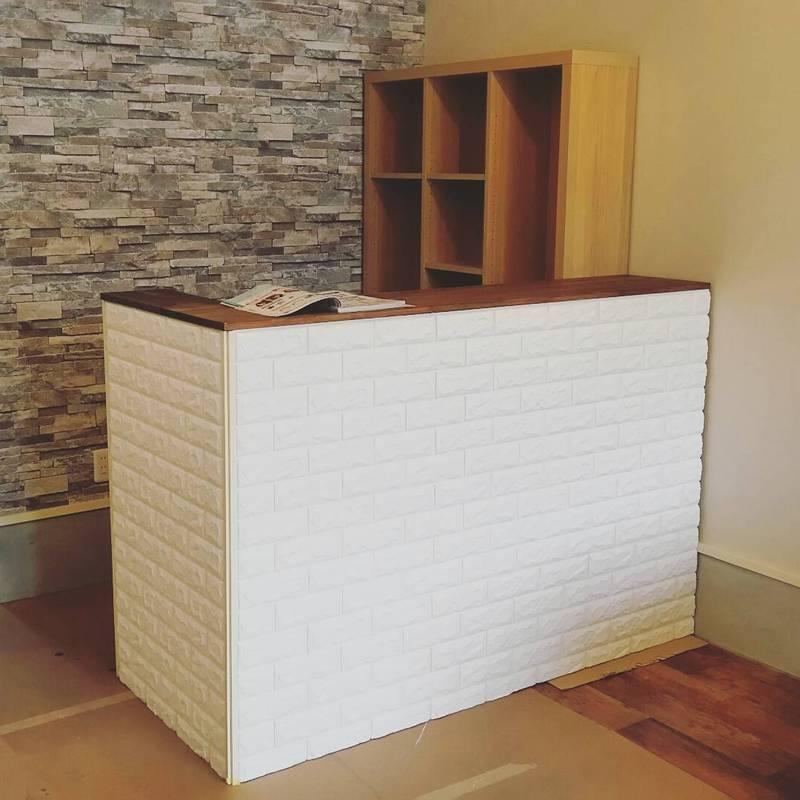 木材と角材でキッチンカウンターをDIY