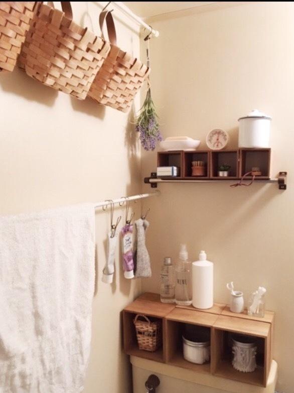 狭い洗面所に収納