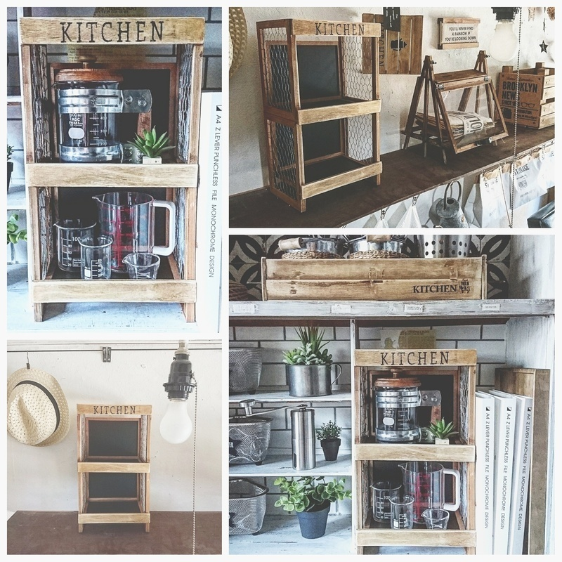 カフェ風キッチン収納box