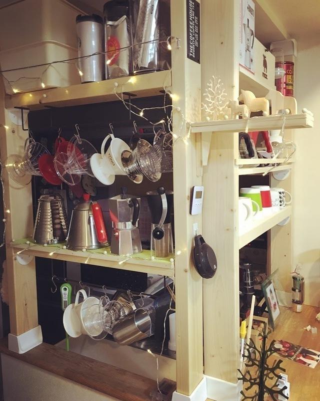 コーヒー器具用の棚