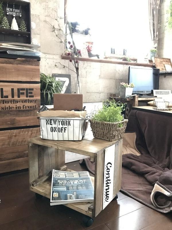 端材で作るサイドテーブル