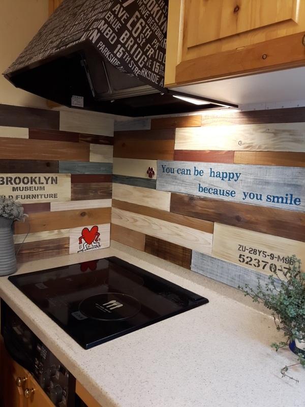 木の端材でキッチンDIY