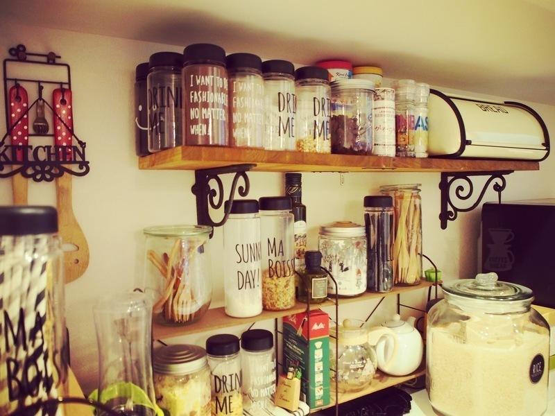 キッチン壁面収納棚