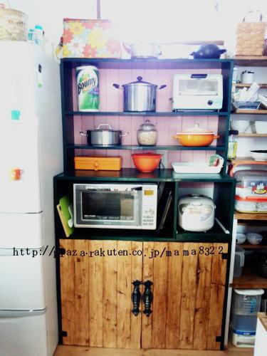 食器棚リメイクしてオープンシェルフに