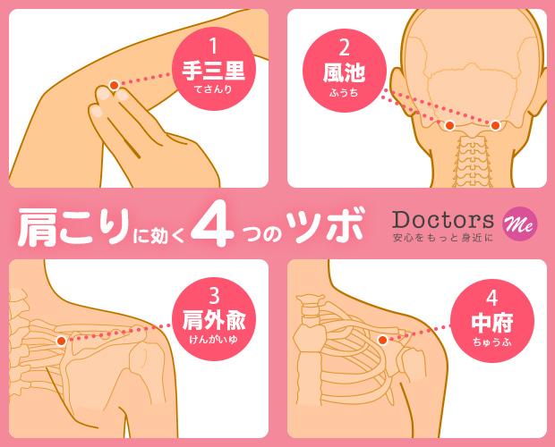 【東洋医学のツボコラム】Vol.5: 脱・ガチガチ首&肩!肩こりに効く4つのツボ!