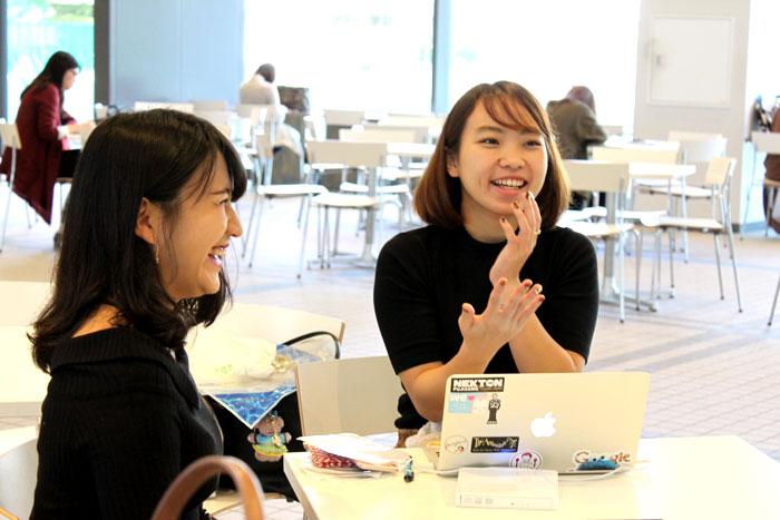 (右)Girls Dream Factory 代表 坂本さん (左)Girls Dream Factory 副代表 佐伯さん