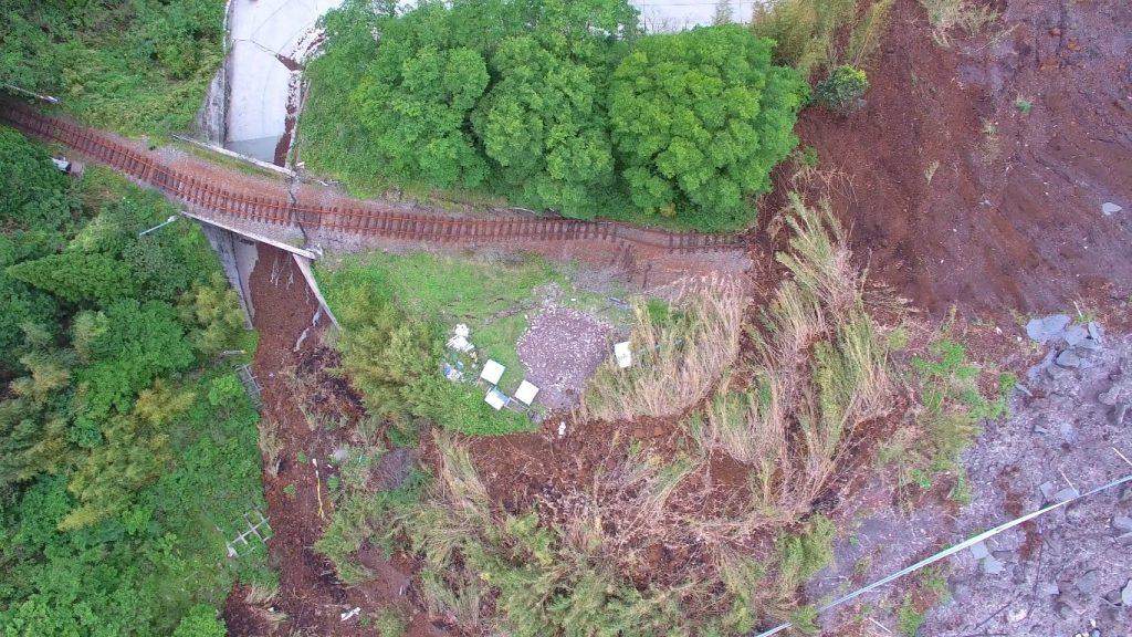 地震で被害を受けた南阿蘇鉄道