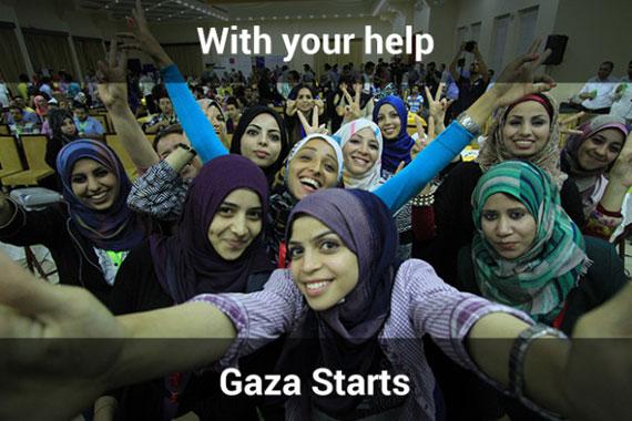 コワーキングスペース「Gaza Sky Geeks」