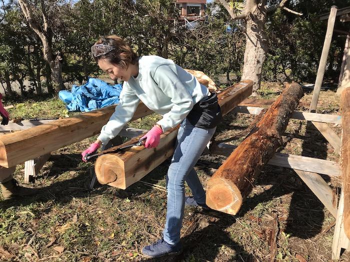 木材に加工