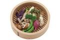 温野菜の山芋ディップ添えVSバゲットにたっぷり! 豚肉のリエット