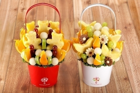 贈り物にぴったり。フルーツブーケ®新作は「梨」を使用