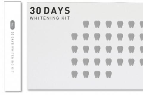 歯ブラシと歯磨き粉がセット! 新感覚の1カ月集中ホワイトニングケアセット