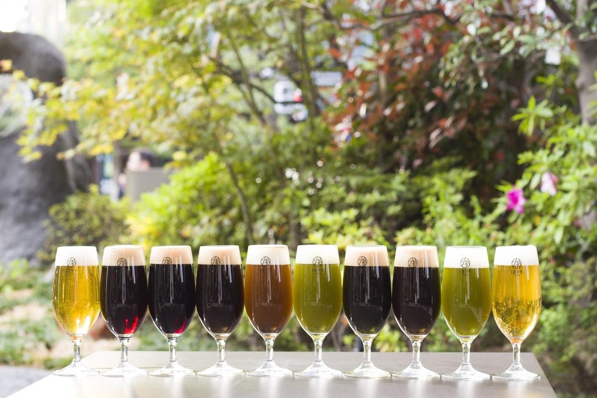 抹茶ビアガーデン開催。抹茶ビールなど「お茶ビール」6種類が飲み放題