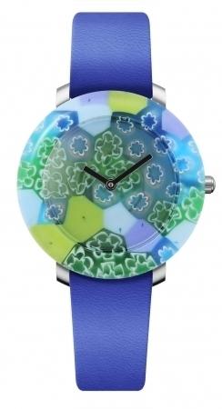 イタリアのヴェネチアンガラスを使った時計「ユニック」が日本初上陸