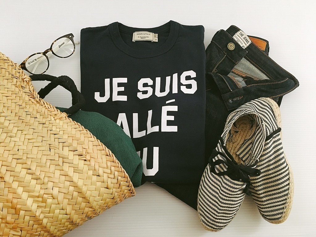パリ発「MAISON KITSUNÉ」のTシャツが名品。印象的なきれいめコーデが叶います