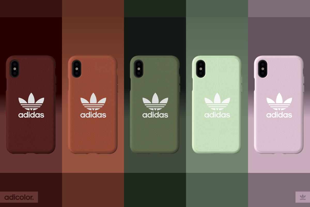 流行の「くすみカラー」も。アディダスiPhoneケースが登場